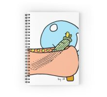 Showering Cucumber Spiral Notebook