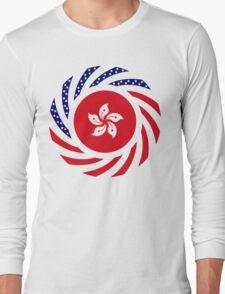 Hong Kong American Multinational Patriot Flag Series Long Sleeve T-Shirt
