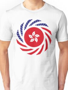 Hong Kong American Multinational Patriot Flag Series Unisex T-Shirt