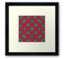 Red Blue abstract pattern Framed Print
