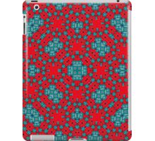Red Blue abstract pattern iPad Case/Skin