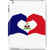 I Heart Haiti Patriot Flag Series iPad Case/Skin