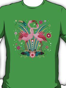 LOVE & FLAMINGO  T-Shirt