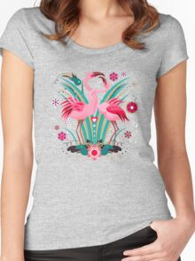 LOVE & FLAMINGO  Women's Fitted Scoop T-Shirt