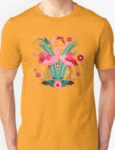 LOVE & FLAMINGO  Unisex T-Shirt
