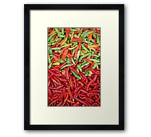 Chilis Framed Print