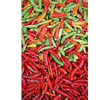 Chilis Photographic Print