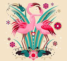 LOVE & FLAMINGO  by Kimazo