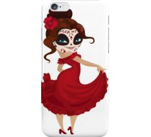 Girl dancer on carnival iPhone Case/Skin