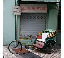 Macau Tricycle Photographic Print