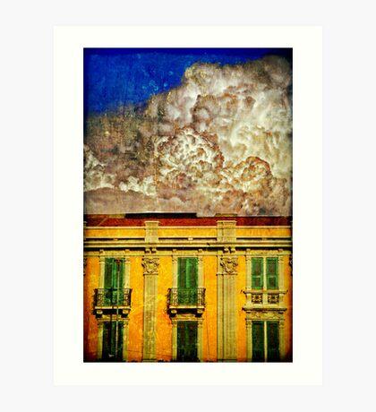 Cloud like whipped cream Art Print