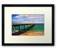 Brighton Jetty landscape Framed Print