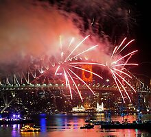 Sydney New Year Eve 2009 Fireworks - Sidewinders by Gino Iori