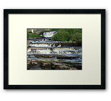 The Cascades Waterfalls in Ennistymon, Clare, Ireland Framed Print