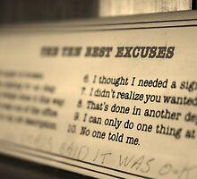 The Best Excuses by Sarah Bonham