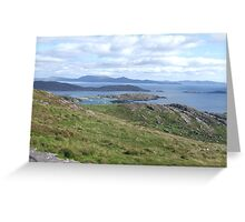 View over the Atlantic Ocean from Mountains in Ballinskelligs Greeting Card