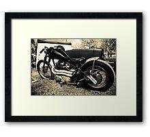 """""""Bobbed"""" Chopped Rod & Kustom show '09 Framed Print"""