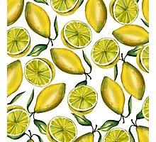 Lemons. Watercolor Photographic Print