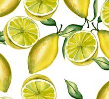 Lemons. Watercolor Sticker