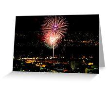 Hobart Regatta Fireworks 2008 Greeting Card