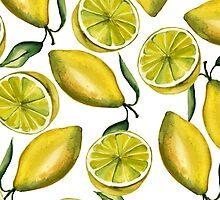 Lemons. Watercolor by JuliaBadeeva
