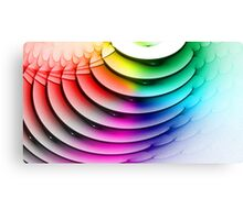 Colored waves Canvas Print