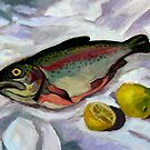 Smoked Trout and Lemons by Guntis Jansons
