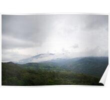 Costa Rica Mountain Range Poster