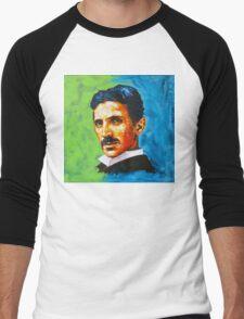 The Great Inventor - A Nikola Tesla Tribute Men's Baseball ¾ T-Shirt