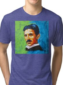 The Great Inventor - A Nikola Tesla Tribute Tri-blend T-Shirt