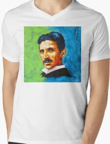 The Great Inventor - A Nikola Tesla Tribute Mens V-Neck T-Shirt