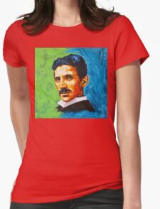 The Great Inventor - A Nikola Tesla Tribute Womens Fitted T-Shirt
