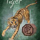 Chinese Zodiac - The Tiger card by Stephanie Smith