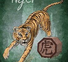Chinese Zodiac - The Tiger card by Stephanie Smith