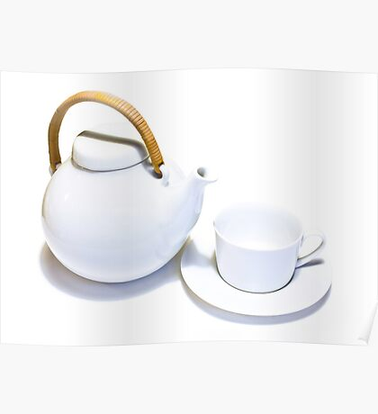 Teapot and cup Poster