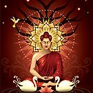 Buddha&#x27;s moment of enlightenment by Sarah Jane Bingham