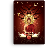 Buddha's moment of enlightenment Canvas Print