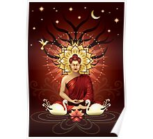 Buddha's moment of enlightenment Poster