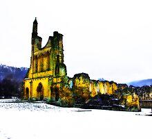 Byland Abbey in Winter by Trevor Kersley