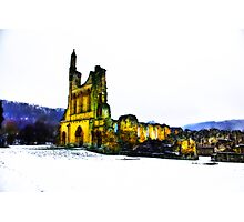 Byland Abbey in Winter Photographic Print