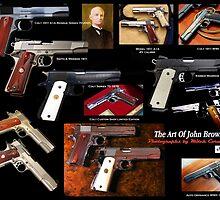 Colt 1911 John Browning Poster by mitchcornacchia