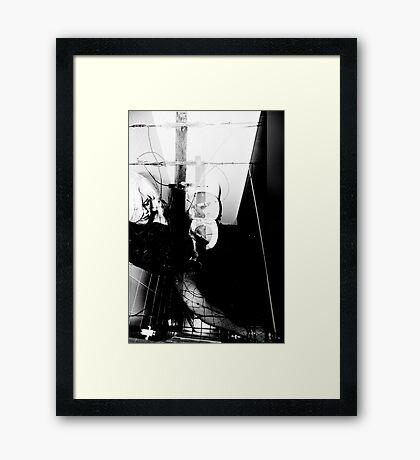 POWERED CUBICLE Framed Print