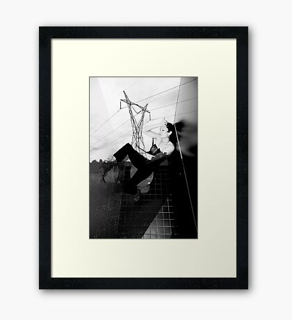 POWERED CUBICLE 3 Framed Print