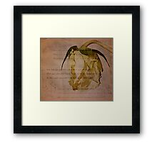 Do not go gentle into that good night Framed Print