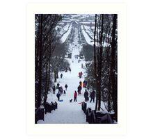 Park snow scene Art Print