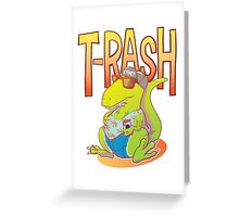 T-Rash in Orange/Blue Greeting Card