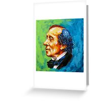 Storyteller - Hans Christian Andersen Greeting Card