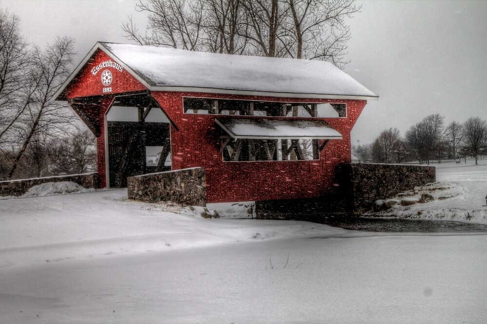 Essenhaus Covered Bridge by Terence Russell