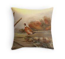 Idaho Long Tail Pheasant Throw Pillow