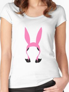 Louise Belcher: Silhouette Style  Women's Fitted Scoop T-Shirt